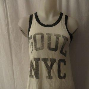 SOUL CYCLE NYC WHITE/BLACK TANK TOP SZ XS